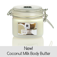 Best Organic Body Butter w/ Vitamin E, Coconut Milk, and Argan Oil