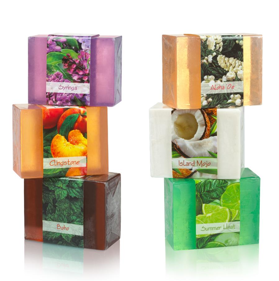 Vegan All Natural Soap Gentle Moisturizing Cleansing Soap Bars Set