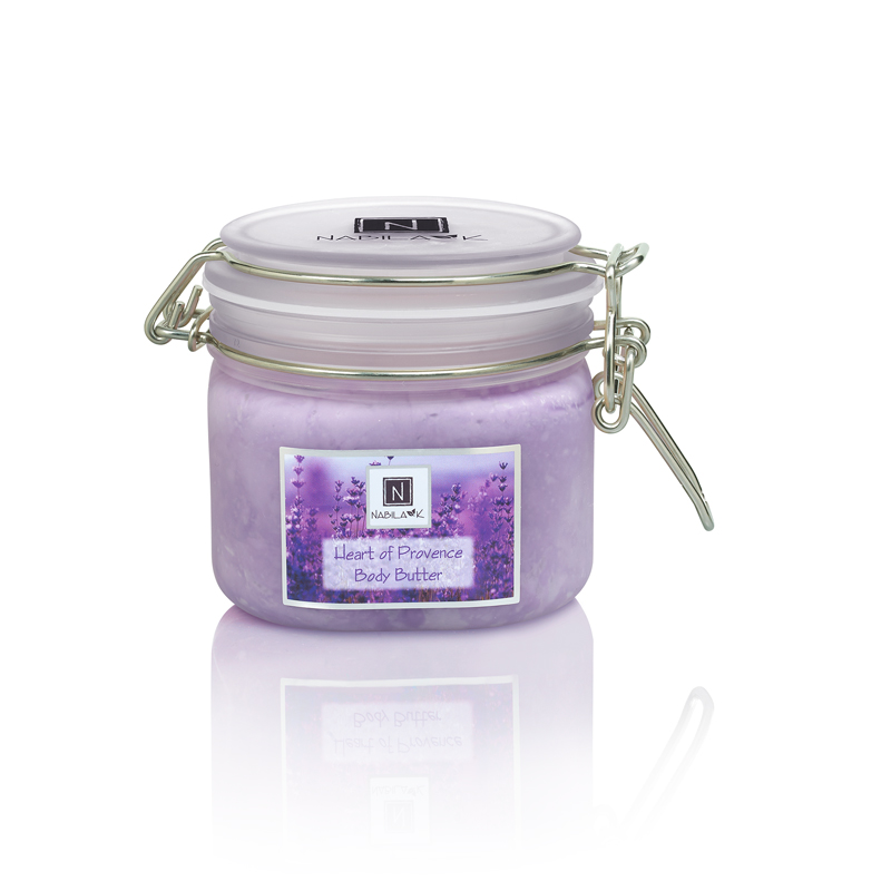 All natural and cruelty-free Heart of Provence body butters packed with lavender, rich emollients, Vitamins C and E