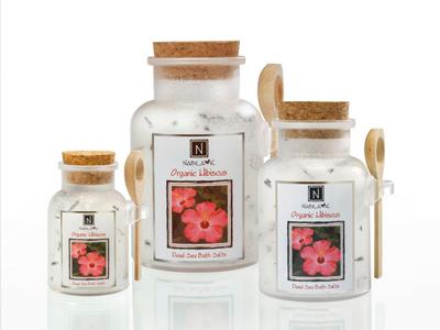Floral Organic Hibiscus Fine Bath Salt Zen Relaxation