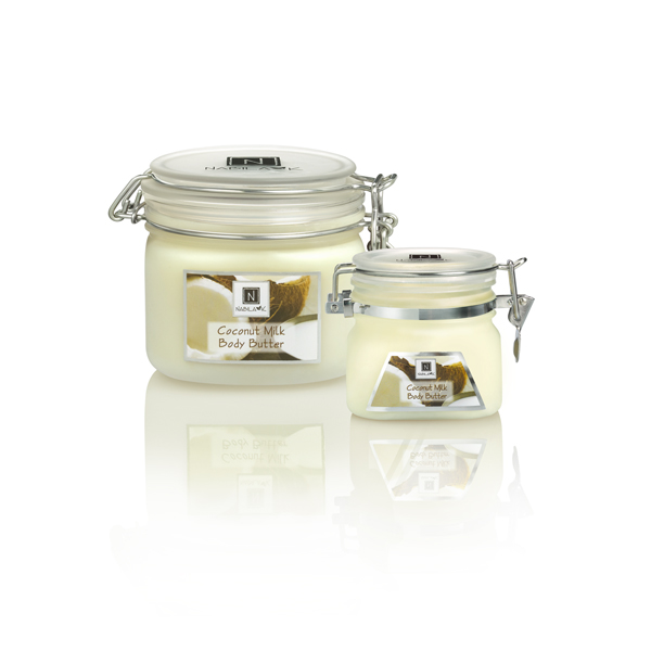 All Natural and Cruelty-Free Coconut Milk Body Butters blended with the richest honey, argan and almond oils, and enriched with vitamins E & C