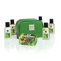 All Natural Bath and Body Extracts Set Toiletries Bag Soap Shea Butter