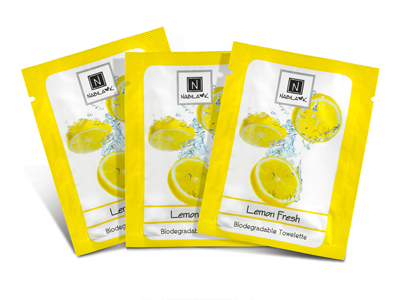Best Biodegradable All Natural Lemon Infused Towelettes Moist Face Wipes