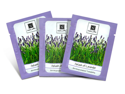 Best Biodegradable All Natural Lavender Infused Towelettes Moist Face Wipes